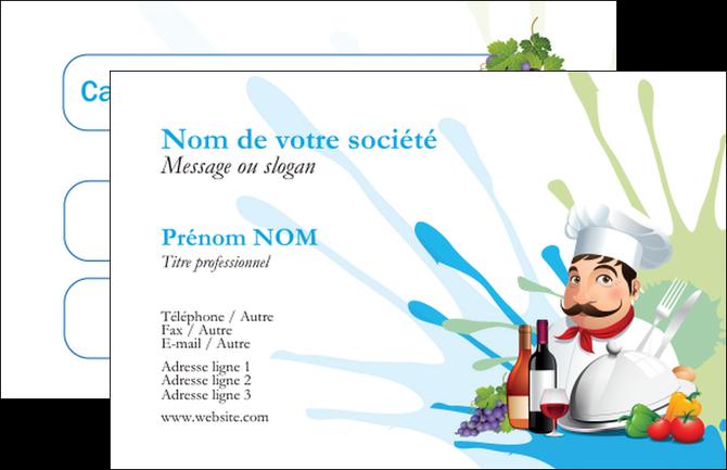 Maquette En Ligne A Personnaliser Carte De Visite Metiers La Cuisine Menu Restaurant Francais