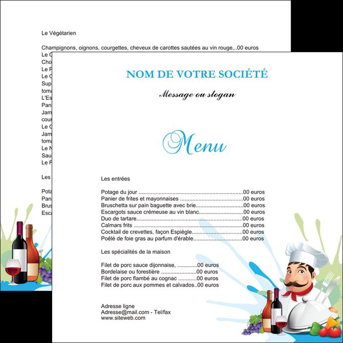 Flyers Modle Et Exemple Menu Restaurant Restaurant Franais