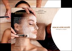 imprimerie depliant 3 volets  6 pages  centre esthetique  masque masque du visage soin du visage MLGI27014