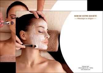 maquette en ligne a personnaliser affiche centre esthetique  masque masque du visage soin du visage MLGI27020