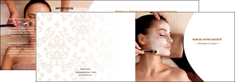 exemple depliant 2 volets  4 pages  centre esthetique  masque masque du visage soin du visage MLGI27028