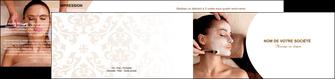 imprimerie depliant 2 volets  4 pages  centre esthetique  masque masque du visage soin du visage MLGI27030