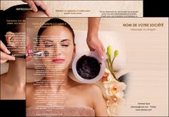 imprimer depliant 3 volets  6 pages  centre esthetique  masque masque du visage soin du visage MLGI27052
