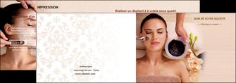 personnaliser maquette depliant 2 volets  4 pages  centre esthetique  masque masque du visage soin du visage MLGI27064