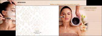 imprimerie depliant 2 volets  4 pages  centre esthetique  masque masque du visage soin du visage MLGI27066