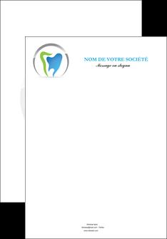 faire modele a imprimer affiche dentiste dents soins dentaires caries MIS27118