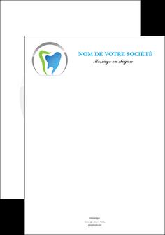 maquette en ligne a personnaliser affiche dentiste dents soins dentaires caries MIS27120