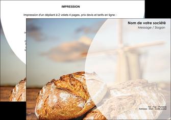 exemple flyers sandwicherie et fast food boulangerie boulanger boulange MIF27208