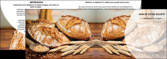 maquette en ligne a personnaliser depliant 2 volets  4 pages  sandwicherie et fast food boulangerie boulanger boulange MIF27218