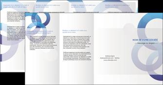 faire depliant 4 volets  8 pages  texture contexture structure MLIG27234