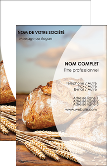personnaliser modele de carte de visite sandwicherie et fast food boulangerie boulanger boulange MIF27272