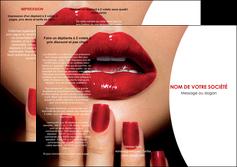 faire depliant 3 volets  6 pages  centre esthetique  ongles vernis vernis a ongles MLGI27354