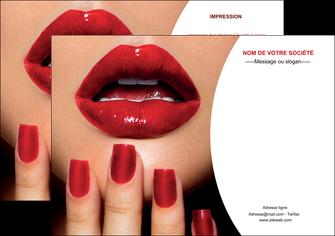 maquette en ligne a personnaliser flyers centre esthetique  ongles vernis vernis a ongles MLGI27366