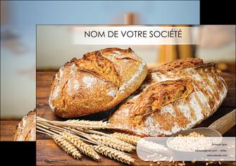 creation graphique en ligne affiche sandwicherie et fast food boulangerie boulanger boulange MIF27442
