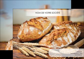 modele en ligne affiche sandwicherie et fast food boulangerie boulanger boulange MIF27446