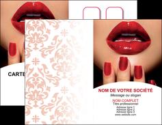 creer modele en ligne carte de visite centre esthetique  ongles vernis vernis a ongles MLGI27540