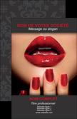 personnaliser maquette carte de visite institut de beaute ongles vernis vernis a ongles MLGI27542