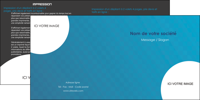 cree depliant 2 volets  4 pages  texture contexture structure MLGI27610