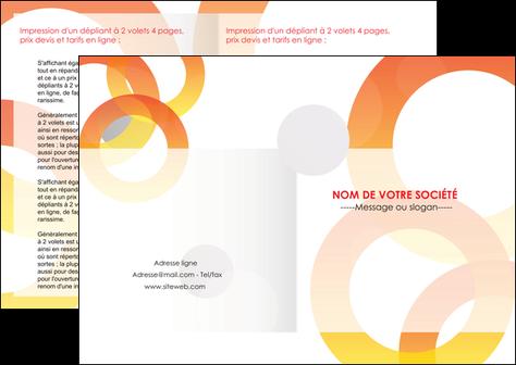 modele depliant 2 volets  4 pages  texture contexture structure MLGI27648