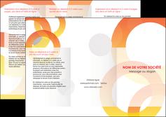 creer modele en ligne depliant 3 volets  6 pages  texture contexture structure MIF27656