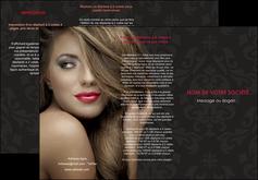 exemple depliant 3 volets  6 pages  centre esthetique  coiffure salon de coiffure salon de beaute MLGI27716