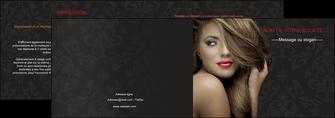 cree depliant 2 volets  4 pages  centre esthetique  coiffure salon de coiffure salon de beaute MLGI27728