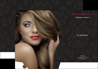 personnaliser modele de pochette a rabat centre esthetique  coiffure salon de coiffure salon de beaute MLGI27734