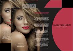 creation graphique en ligne depliant 3 volets  6 pages  centre esthetique  cheveux coiffure salon de coiffure MLGI27932
