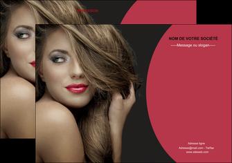 modele en ligne flyers centre esthetique  cheveux coiffure salon de coiffure MLGI27944