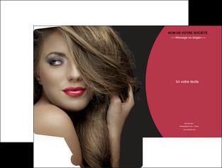 imprimerie pochette a rabat centre esthetique  cheveux coiffure salon de coiffure MLGI27950