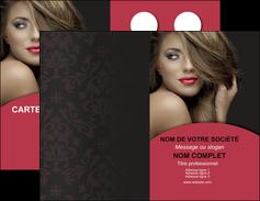 faire modele a imprimer carte de visite centre esthetique  cheveux coiffure salon de coiffure MLGI27954