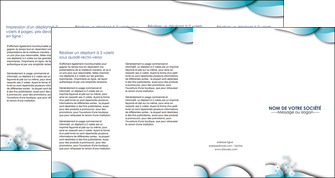 impression depliant 4 volets  8 pages  medecin texture contexture structure MLGI27964