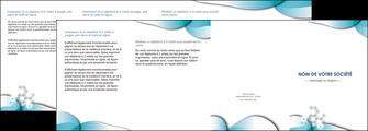 personnaliser maquette depliant 4 volets  8 pages  medecin texture contexture structure MLIG27968