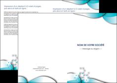 creation graphique en ligne depliant 2 volets  4 pages  medecin texture contexture structure MLIG27972