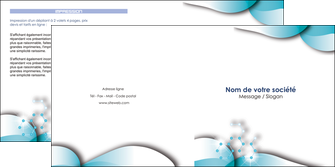 exemple depliant 2 volets  4 pages  medecin texture contexture structure MLGI27984