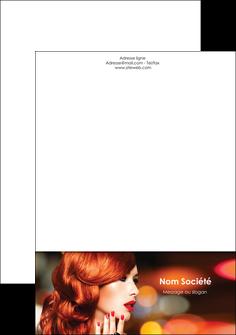 imprimer tete de lettre centre esthetique  coiffure coiffeur coiffeuse MIF28038