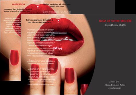 creation graphique en ligne depliant 3 volets  6 pages  centre esthetique  beaute institut de beaute institut de beaute professionnel MLGI28076