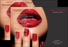 creation graphique en ligne depliant 3 volets  6 pages  centre esthetique  beaute institut de beaute institut de beaute professionnel MIF28076