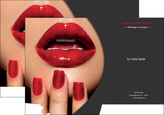 personnaliser modele de pochette a rabat centre esthetique  beaute institut de beaute institut de beaute professionnel MIF28092
