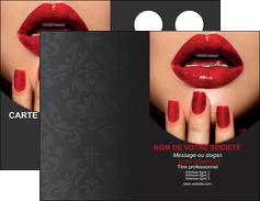 Impression imprimerie carte invitation gaufrée centre esthétique  Carte commerciale de fidélité devis d'imprimeur publicitaire professionnel Carte de visite Double - Portrait