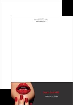 exemple tete de lettre centre esthetique  beaute institut de beaute institut de beaute professionnel MLGI28100