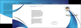 exemple depliant 4 volets  8 pages  chirurgien medecin medecine cabinet medical MIS28156