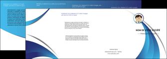 exemple depliant 4 volets  8 pages  chirurgien medecin medecine cabinet medical MIF28158