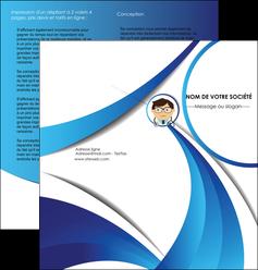 imprimerie depliant 2 volets  4 pages  chirurgien medecin medecine cabinet medical MIF28162