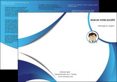 faire modele a imprimer depliant 3 volets  6 pages  chirurgien medecin medecine cabinet medical MIF28168
