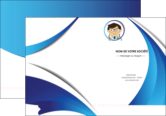 personnaliser modele de pochette a rabat chirurgien medecin medecine cabinet medical MIS28182