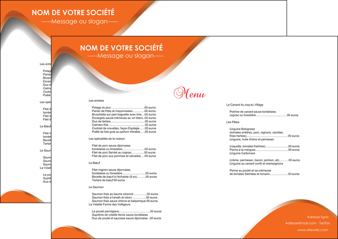 faire set de table restaurant set de table menu set de table menu MLGI28198
