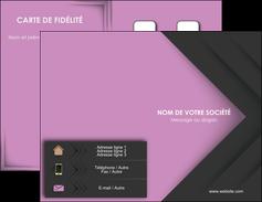 Impression carte de visite pro  Carte commerciale de fidélité papier à prix discount et format Carte de visite Double - Portrait