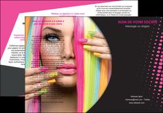 creation graphique en ligne depliant 3 volets  6 pages  centre esthetique  coiffure coiffeur coiffeuse MLGI28292