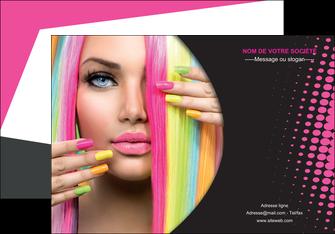 personnaliser maquette affiche centre esthetique  coiffure coiffeur coiffeuse MLGI28298
